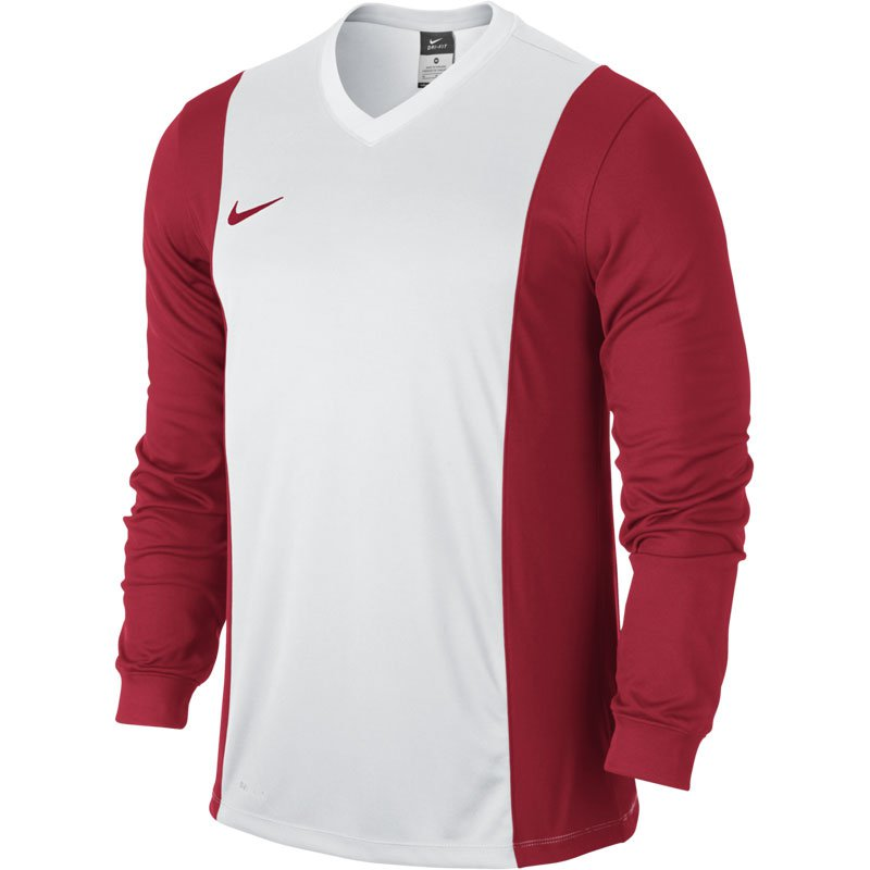 Nike Park Derby Trikot Langarm  - White/University Red - Erw