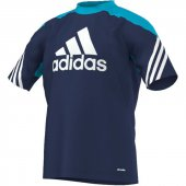 Adidas Sereno 14 Training Jersey - new navy/super cyan - Gr. xl