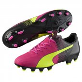 Puma Evospeed 4.5 Tricks Fg - pink glo-safety yellow-black - Größe 11