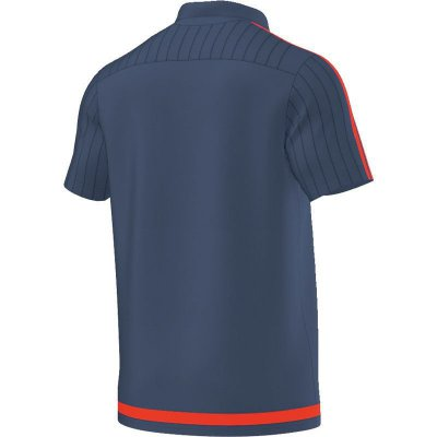 Adidas Tiro 15 Polo - night marine/solar red - Erw