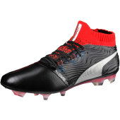 Puma One 18.1 FG Leder black/red