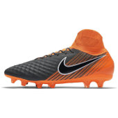 Nike Obra 2 Pro Df Fg - dark grey/black-total orange-w - Größe 8,5