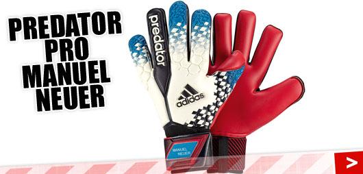 Adidas Predator Pro Manuel Neuer Torwarthandschuhe mit roter Fangfläche