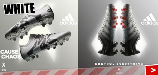 Adidas Ace und Adidas X white