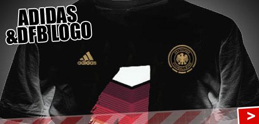 Adidas DFB T-Shirt 1 mit dem DFB Logo und dem Adidas Logo