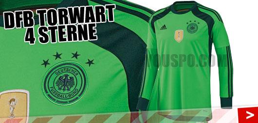 Adidas DFB Torwart Trikot mit 4 Sternen von Manuel Neuer