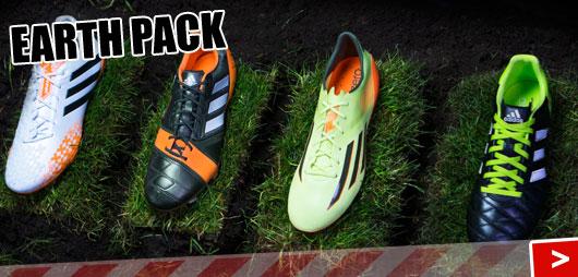 Adidas Earth Pack Fußballschuhe mit dem F50 adizero und dem Predator