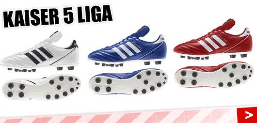 Adidas Kaiser 5 Liga in den Farben weiß blau und rot