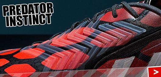 Predator Elemente im Adidas Predator Instinct in infrared/black