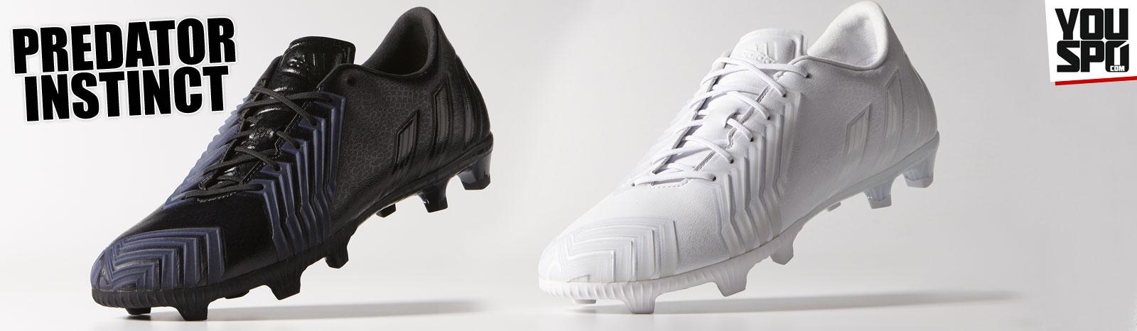 Adidas Predator Instinct komplett schwarz und komplett weiß