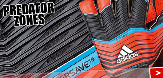 Die Adidas Predator Zones Torwarthandschuhe mit Predator Pro und co
