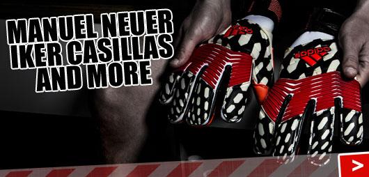Iker Casillas und Manuel Neuer Torwarthandschuhe