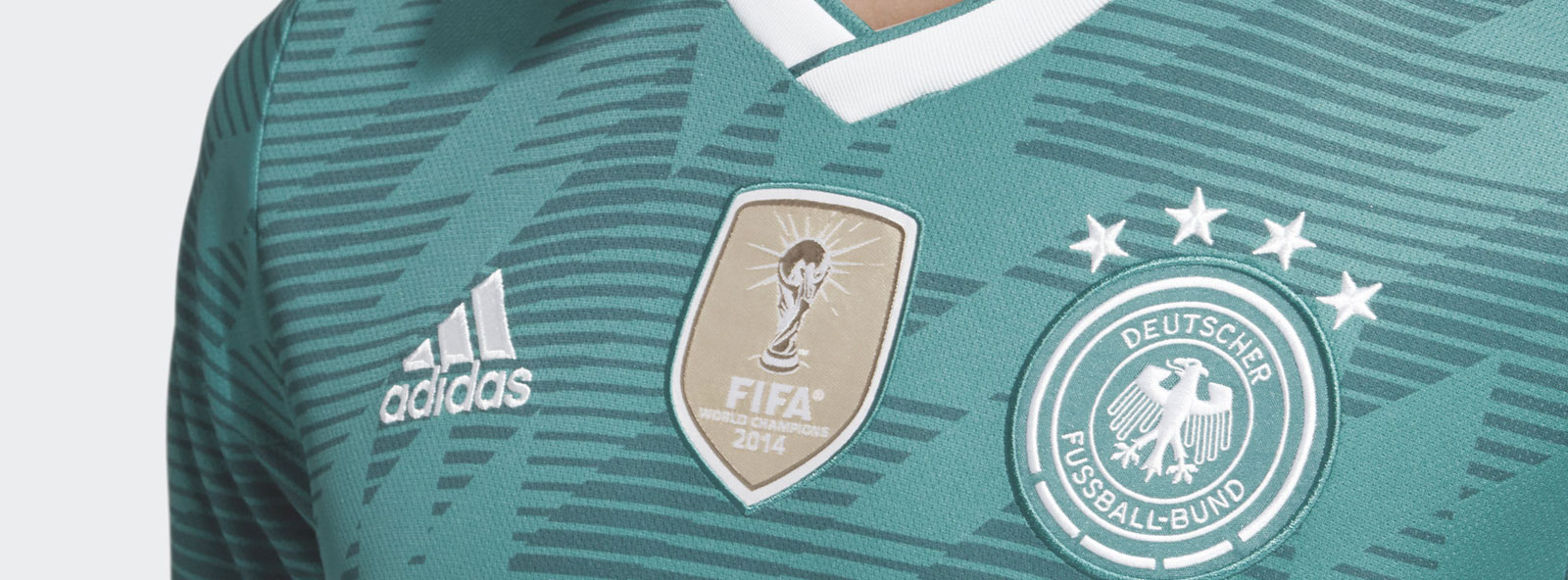 DFB Logo auf dem deutschland trikot auswärts 2018