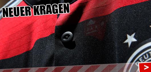 Kragen am DFB Away Trikot WM 2014 von Adidas