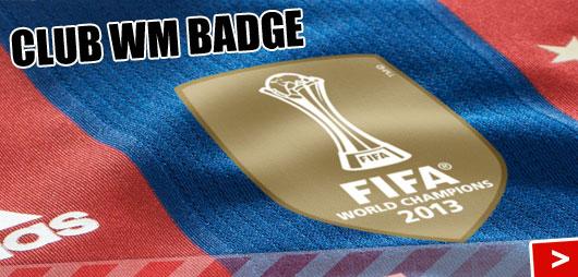 Club WM Badge auf dem FC Bayern München Trikot