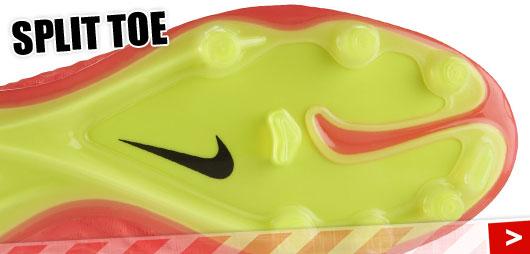 Nike Hypervenom Phantom mit Split Toe Sohle