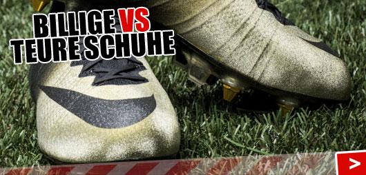 teure und billige Fußballschuhe (Die Unterschiede)
