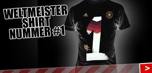 Adidas DFB Weltmeister T-Shirt Nummer #1 in schwarz